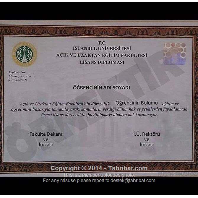 Anadolu üniversitesi Diploma Ve Iu Auzef Diploma